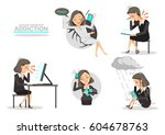 addicted to social.business... | Shutterstock .eps vector #604678763