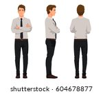 vector illustration of three... | Shutterstock .eps vector #604678877