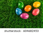 Many Colorful Easter Eggs In...