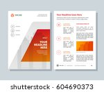 annual report  orange color... | Shutterstock .eps vector #604690373