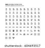 mobile phone mini line ... | Shutterstock .eps vector #604693517