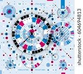 architectural blueprint  vector ... | Shutterstock .eps vector #604694813