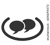 social networks vector icon.... | Shutterstock .eps vector #604695473