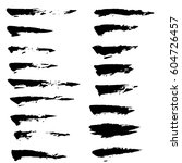 set of ink vector brush strokes.... | Shutterstock .eps vector #604726457