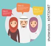 arab team people character... | Shutterstock .eps vector #604732487