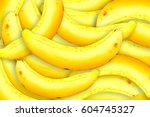 bananas  background is a... | Shutterstock . vector #604745327