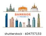 bangkok  thailand  vector... | Shutterstock .eps vector #604757153