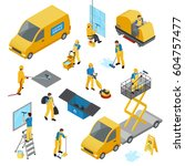colored isometric industrial... | Shutterstock .eps vector #604757477