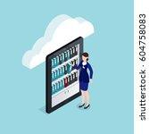cloud documents storage...   Shutterstock .eps vector #604758083