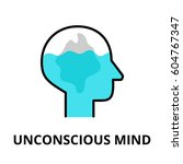 unconscious mind icon  flat... | Shutterstock .eps vector #604767347