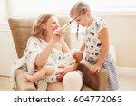 group portrait of white... | Shutterstock . vector #604772063