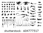 vector set of ink splashes... | Shutterstock .eps vector #604777517