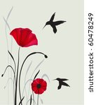 Hummingbirds And Poppies