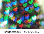 Colorful Heart Bokeh With...
