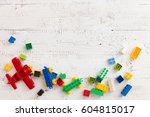 Top View On Colorful Toy Brick...
