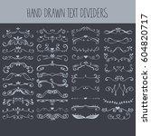 set of vector hand drawn text...   Shutterstock .eps vector #604820717
