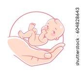 logo of  baby care  family love ... | Shutterstock .eps vector #604828643