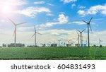 wind power plants | Shutterstock . vector #604831493