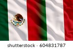 waving mexico and italy flag | Shutterstock . vector #604831787