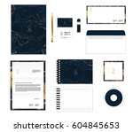 corporate identity template for ... | Shutterstock .eps vector #604845653