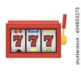 a slot machine in a casino. an... | Shutterstock .eps vector #604853273