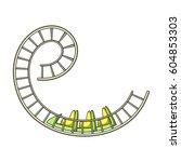 roller coaster for children and ... | Shutterstock .eps vector #604853303