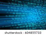 blue cyber security concept... | Shutterstock .eps vector #604855733