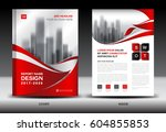 annual report brochure flyer... | Shutterstock .eps vector #604855853