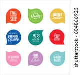 sale stickers and tags... | Shutterstock .eps vector #604866923