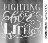 modern calligraphy... | Shutterstock .eps vector #604871573