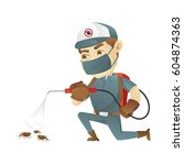 pest control service killing... | Shutterstock .eps vector #604874363