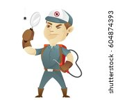 pest control service holding... | Shutterstock .eps vector #604874393