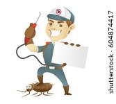 pest control service killing... | Shutterstock .eps vector #604874417