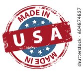 made in the usa rubber stamp... | Shutterstock .eps vector #604874837
