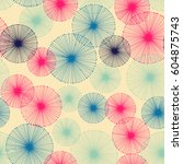 seamless pattern with small... | Shutterstock .eps vector #604875743
