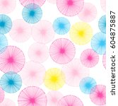 seamless pattern with small... | Shutterstock .eps vector #604875887