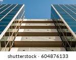 urban geometry  looking up to... | Shutterstock . vector #604876133