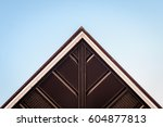 abstract triangle angled corner ... | Shutterstock . vector #604877813
