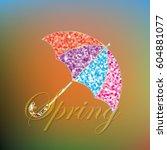 colorful spring umbrella....