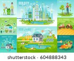 eco living infographic  eco... | Shutterstock .eps vector #604888343