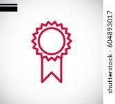 medal icon flat. | Shutterstock .eps vector #604893017