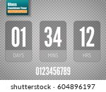 transparent vector countdown... | Shutterstock .eps vector #604896197