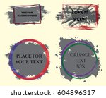 set of abstract grunge artistic ... | Shutterstock .eps vector #604896317
