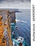 Small photo of Cliff of Don Aengus, Inishmore, Aran Islands, Ireland