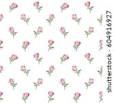 pattern with colorful rose... | Shutterstock .eps vector #604916927