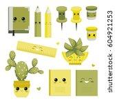 characters. back to school.... | Shutterstock .eps vector #604921253