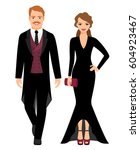 evening fashion outfit people.... | Shutterstock .eps vector #604923467