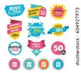 sale banners  online web... | Shutterstock .eps vector #604927973