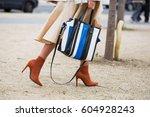 paris march 3  2017. street... | Shutterstock . vector #604928243