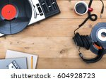 retro music hero header | Shutterstock . vector #604928723